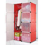 (預購)8門加深全掛式煥彩PP組合衣櫥櫃(紅)