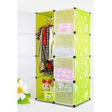 (預購)8門加深全掛式煥彩PP組合衣櫥櫃(綠色)