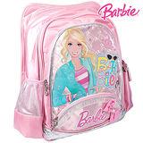 芭比Barbie 繽紛立體護脊書包-粉紅