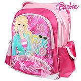 芭比Barbie 繽紛立體護脊書包-玫紅