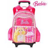 芭比Barbie 魔力甜心學生拉桿書包-玫紅