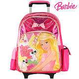 芭比Barbie 魔力甜心拉桿書包-紅