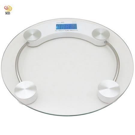 【兌】月陽26cm小圓型夜視型180kg厚鋼化玻璃體重計體重秤(XC12)