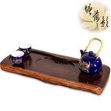 【塘荷影】黑檀原木茶盤(中)
