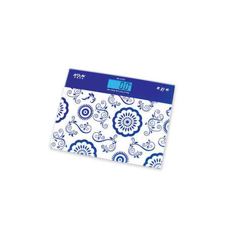 Dr.AV  BS-3325 古典藍光大螢幕加長電子體重計(青花瓷)
