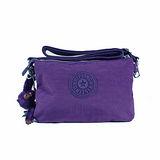 【Kipling】BASIC系列 大三夾層斜背包 冰晶紫 K-373-5155-646