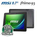 MSI微星 Primo 93 四核心 9.7吋平板(3G/16G)-限量送行動電源