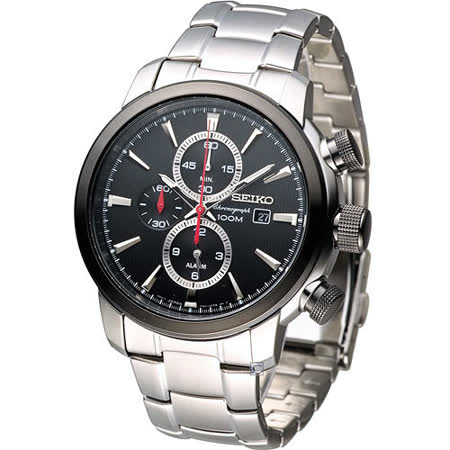 SEIKO 鷹眼大錶徑多功能鬧鈴腕錶 7T62-0LG0D SNAF47P1