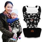 【LOG樂格】 Ubela 多功能嬰兒腰凳揹帶 -純黑款
