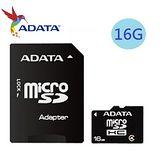 威剛ADATA 16GB microSDHC Class4 記憶卡-附轉卡