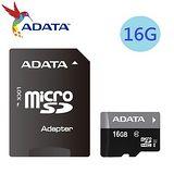 威剛ADATA 16GB UHS-I  microSDHC Class10 記憶卡(附轉卡)