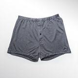 LACOYA 天絲緹花男寬鬆平口褲(3F306- 6深藍)*3件組