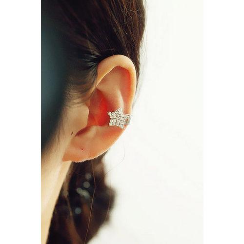 ~PS Mall~韓國可愛水鑽星星假耳骨夾  ^(G1350^)