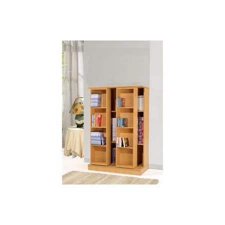 【空間生活】全新小尺寸日式雙排活動書櫃(木紋)