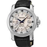 SEIKO Kinetic 互動式人動電能時尚腕錶-銀 5D22-0AD0G