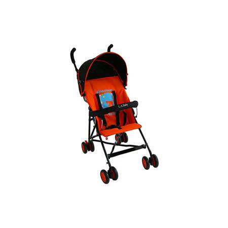 L.A. Baby 美國加州貝比 亮彩輕便嬰兒手推車(亮彩橘)