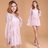 《韓國K.W.》時尚典藏 甜美蕾絲洋裝