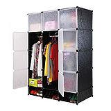 12門加深全掛式煥彩PP組合衣櫥櫃(黑色)