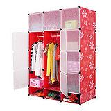 12門加深全掛式煥彩PP組合衣櫥櫃(紅色)