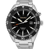 SEIKO Kinetic 領袖風範人動電能腕錶(黑/44mm) 5M82-0AH0D