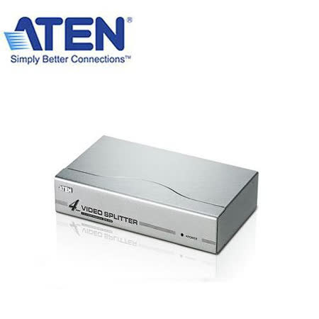 ATEN  4埠 VS94A VGA 螢幕分配器 KVM 金屬外殼/散熱佳