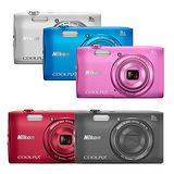 Nikon COOLPIX S3600 輕巧數位相機(公司貨)-加送16G卡+原廠電池+專用座充(附車充)+清保組+讀卡機+桌上型小腳架