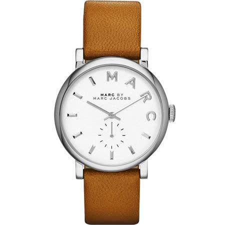 Marc Jacobs Baker 國際舞台小秒針腕錶-銀/咖啡 MBM1265