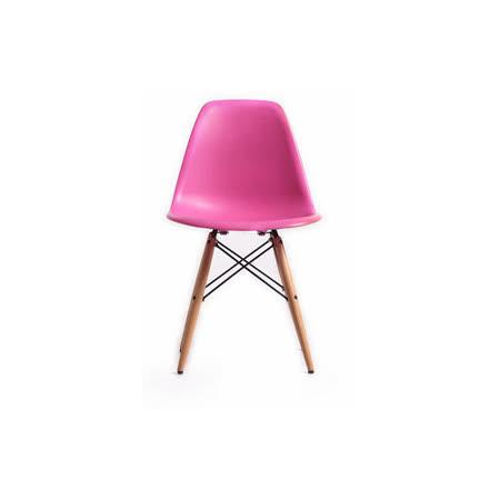 【空間生活】亞伯造型椅(粉紅)
