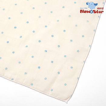 【聖哥-明日之星Newstar】MIT 100%有機棉新生兒/嬰兒媽咪紗布巾/洗澡巾(碎花可愛點點、2條入)
