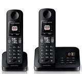 ◆PHILIPS◆飛利浦數位雙子機無線電話(附答錄功能) D6052/D6052B