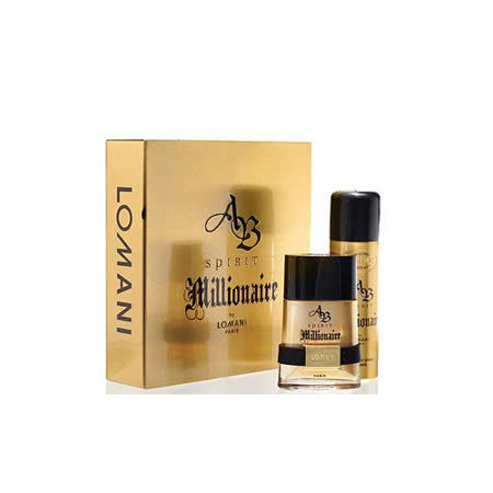LOMANI 羅曼尼 AB SPIRIT MILLONAIRE百萬男星男性淡香水禮盒
