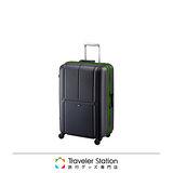 《Traveler Station》CROWN MASTER 輕量19吋霧面色框箱-黑底綠框