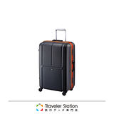 《Traveler Station》CROWN MASTER 輕量19吋霧面色框箱-黑底橘框