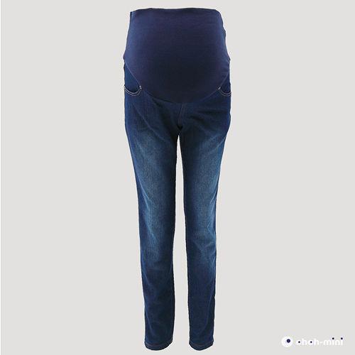 【ohoh-mini孕婦裝】超激瘦美腿保暖丹寧孕婦長褲
