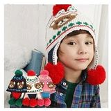 【PS Mall】韓版男女嬰兒童 寶寶雙球球毛線帽  (B075)