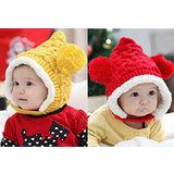 【PS Mall】韓版男女寶寶嬰兒童 雪花雙球加絨嬰兒帽  (B114)