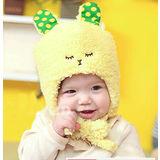 【PS Mall】韓版男女寶寶嬰兒童 保暖糖果色小兔毛絨護耳帽(B116)