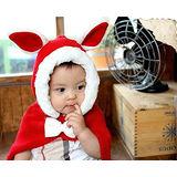 【PS Mall】暖呼呼小兔造型保暖斗篷 寶寶針織帽(B120)