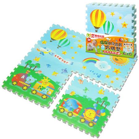 【LOG樂格】環保遊戲2cm巧拼地墊 -動物火車(60x60cmx4片)