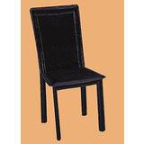 Edwin鱷魚紋皮質餐椅497-13(黑)