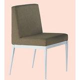 Emma白腳布餐椅496-5(棕)