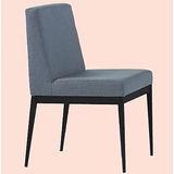 Emma黑腳布餐椅496-3(灰)