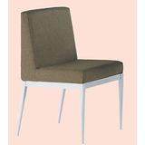 Emma黑腳布餐椅496-1(棕)