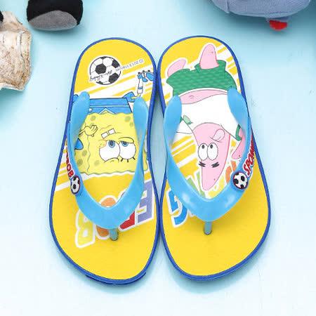 【童鞋城堡】海綿寶寶男童夾腳海灘拖鞋SG1258