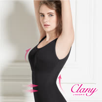 【可蘭霓Clany】Tactel 輕機塑身M-EQ(3XL)美體衣 神秘黑 1931-63