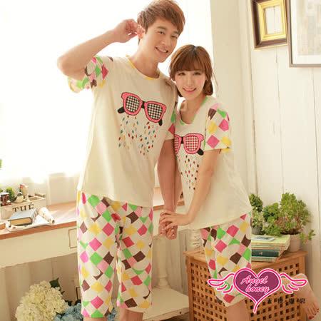 【天使霓裳】彩漾眼鏡 休閒舒適兩件式睡衣(白)