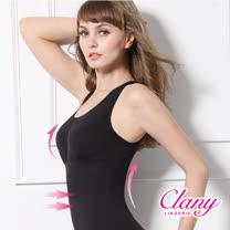 【可蘭霓Clany】Tactel 輕機塑身M-Q(2XL)美體衣 神秘黑 1929-63