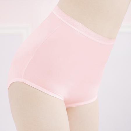 【可蘭霓台灣製】舒適健康抗菌高腰M-Q褲 甜蜜粉 2158-31