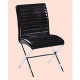 Darren橫條鱷皮餐椅496-15(黑)