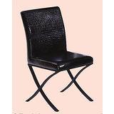 Lee黑腳鱷皮餐椅495-14(黑)